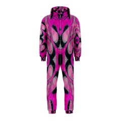 Pink Black Abstract  Hooded Jumpsuit (Kids) by OCDesignss