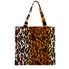 Cheetah Abstract Pattern  Grocery Tote Bags