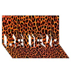 Lava Abstract Pattern  Believe 3d Greeting Card (8x4)