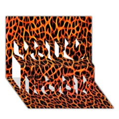Lava Abstract Pattern  You Rock 3d Greeting Card (7x5)
