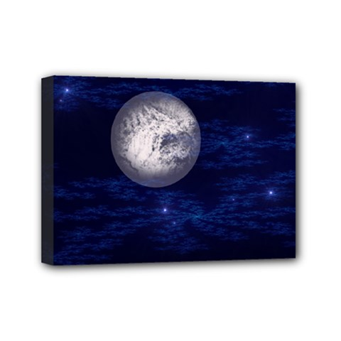 Moon And Stars Mini Canvas 7  X 5  by digitaldivadesigns