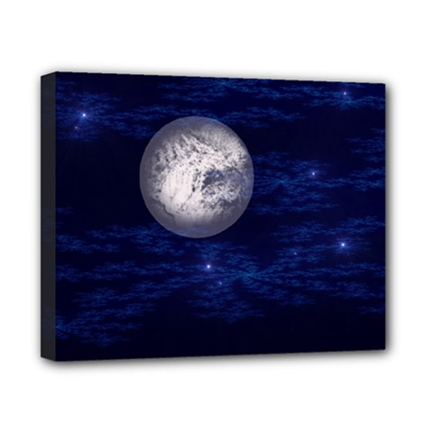 Moon And Stars Canvas 10  X 8  by theunrulyartist