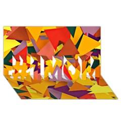 Geo Fun 8 Colorful #1 Mom 3d Greeting Cards (8x4)