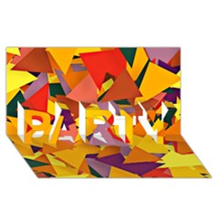 Geo Fun 8 Colorful Party 3d Greeting Card (8x4)
