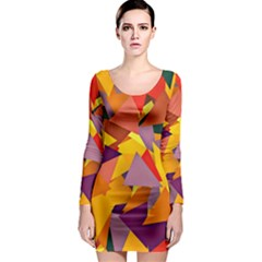 Geo Fun 8 Colorful Long Sleeve Bodycon Dresses