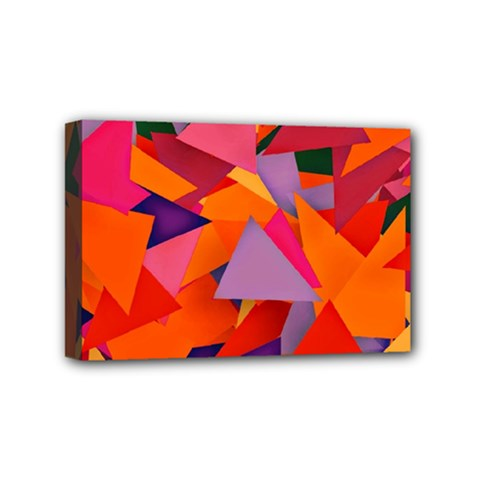 Geo Fun 8 Hot Colors Mini Canvas 6  X 4  by MoreColorsinLife