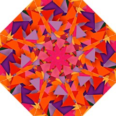 Geo Fun 8 Hot Colors Golf Umbrellas by MoreColorsinLife