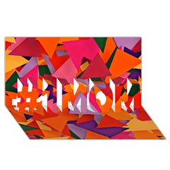 Geo Fun 8 Hot Colors #1 Mom 3d Greeting Cards (8x4)