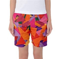 Geo Fun 8 Hot Colors Women s Basketball Shorts by MoreColorsinLife
