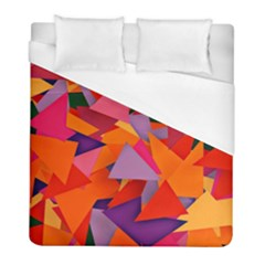 Geo Fun 8 Hot Colors Duvet Cover Single Side (twin Size) by MoreColorsinLife