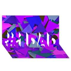 Geo Fun 8 Inky Blue #1 Dad 3d Greeting Card (8x4)