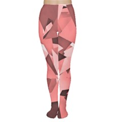Geo Fun 8 Peach Women s Tights by MoreColorsinLife