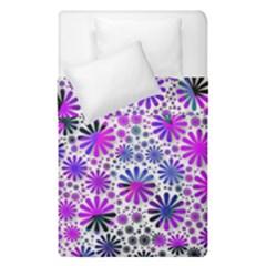 Lovely Allover Flower Shapes Pink Duvet Cover (single Size) by MoreColorsinLife
