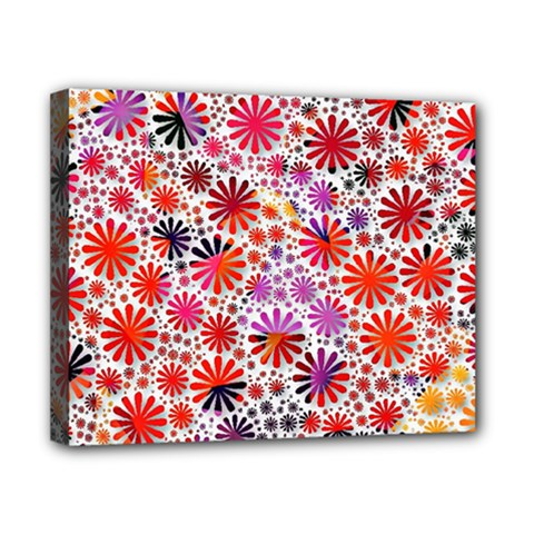 Lovely Allover Flower Shapes Canvas 10  X 8  by MoreColorsinLife