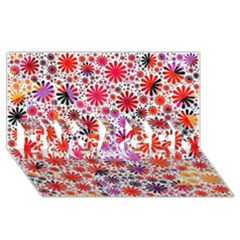 Lovely Allover Flower Shapes Engaged 3d Greeting Card (8x4)