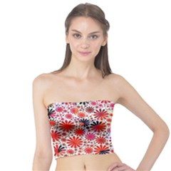 Lovely Allover Flower Shapes Women s Tube Tops by MoreColorsinLife