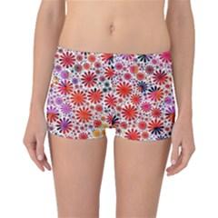 Lovely Allover Flower Shapes Boyleg Bikini Bottoms by MoreColorsinLife
