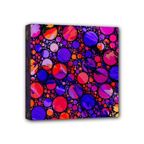 Lovely Allover Hot Shapes Mini Canvas 4  X 4  by MoreColorsinLife
