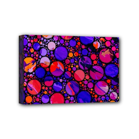 Lovely Allover Hot Shapes Mini Canvas 6  X 4