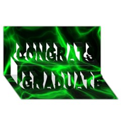 Cosmic Energy Green Congrats Graduate 3d Greeting Card (8x4)