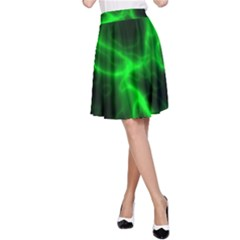 Cosmic Energy Green A-Line Skirts