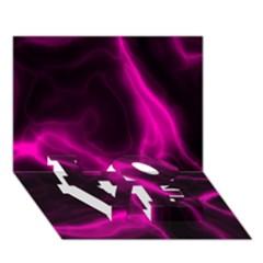 Cosmic Energy Pink Love Bottom 3d Greeting Card (7x5)