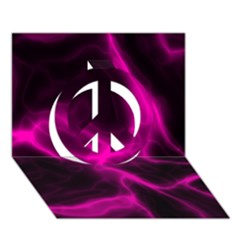 Cosmic Energy Pink Peace Sign 3d Greeting Card (7x5)