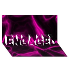 Cosmic Energy Pink Engaged 3d Greeting Card (8x4)