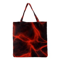 Cosmic Energy Red Grocery Tote Bags