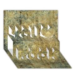 Beautiful  Decorative Vintage Design You Rock 3d Greeting Card (7x5)  by FantasyWorld7