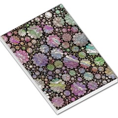Sweet Allover 3d Flowers Large Memo Pads