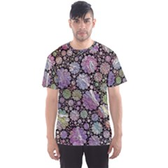 Sweet Allover 3d Flowers Men s Sport Mesh Tees by MoreColorsinLife