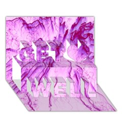 Special Fireworks, Pink Get Well 3d Greeting Card (7x5)