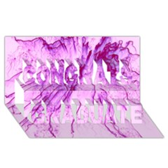 Special Fireworks, Pink Congrats Graduate 3d Greeting Card (8x4)