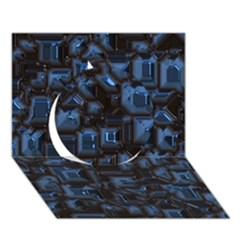 Metalart 23 Blue Circle 3d Greeting Card (7x5)