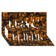 Metalart 23 Orange Best Friends 3d Greeting Card (8x4)  by MoreColorsinLife