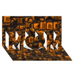 Metalart 23 Orange Mom 3d Greeting Card (8x4)  by MoreColorsinLife