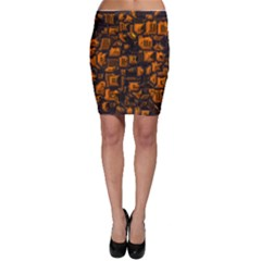 Metalart 23 Orange Bodycon Skirts