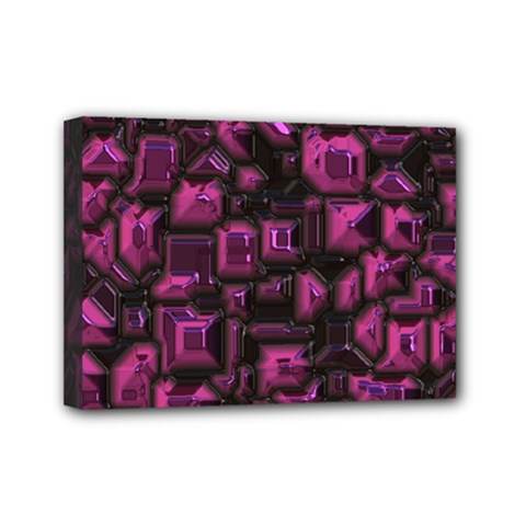 Metalart 23 Pink Mini Canvas 7  X 5  by MoreColorsinLife