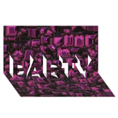 Metalart 23 Pink Party 3d Greeting Card (8x4)