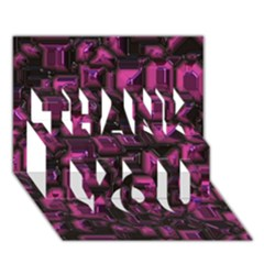 Metalart 23 Pink Thank You 3d Greeting Card (7x5)