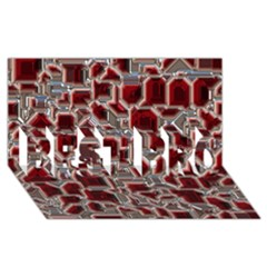 Metalart 23 Red Silver Best Bro 3d Greeting Card (8x4)  by MoreColorsinLife