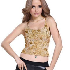 Flower Pattern In Soft  Colors Spaghetti Strap Bra Tops by FantasyWorld7