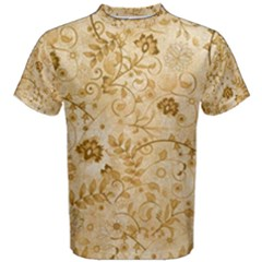 Flower Pattern In Soft  Colors Men s Cotton Tees by FantasyWorld7