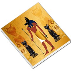 Anubis, Ancient Egyptian God Of The Dead Rituals  Small Memo Pads by FantasyWorld7
