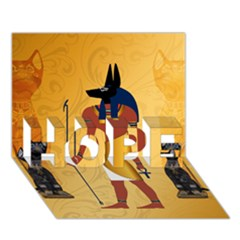 Anubis, Ancient Egyptian God Of The Dead Rituals  Hope 3d Greeting Card (7x5)
