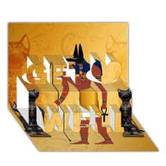 Anubis, Ancient Egyptian God Of The Dead Rituals  Get Well 3d Greeting Card (7x5)  by FantasyWorld7