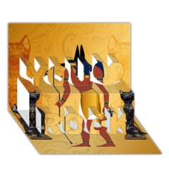 Anubis, Ancient Egyptian God Of The Dead Rituals  You Rock 3d Greeting Card (7x5)  by FantasyWorld7