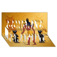 Anubis, Ancient Egyptian God Of The Dead Rituals  Congrats Graduate 3d Greeting Card (8x4)