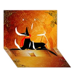 Anubis, Ancient Egyptian God Of The Dead Rituals  Clover 3d Greeting Card (7x5)
